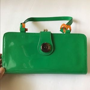 Vintage green wallet clutch